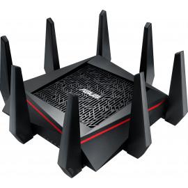 RT-AC5300 routeur sans fil Tri-bande (2,4 GHz / 5 GHz / 5 GHz) Gigabit Ethernet Noir, Rouge